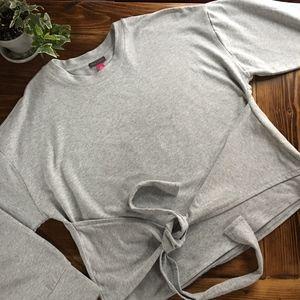 Vince Camuto Tops - Vince Camuto Front Tie Sweatshirt